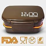 Oursun Lunchbox mit Fächern Lunch Box für Kinder und Erwachsene Bento Box Bpa Frei Brotdose Schule Auslaufsicher 2-Schichten mit Besteck