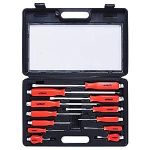 Am-Tech 12 piezas Mecánica Juego de destornilladores, W5600