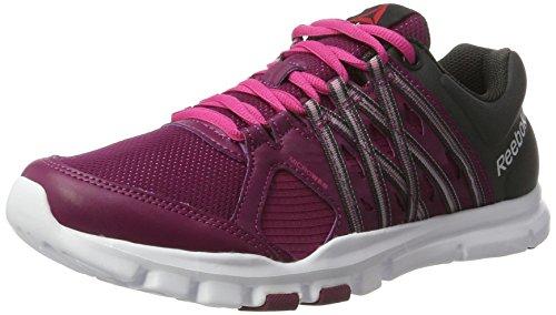 Reebok Damen Yourflex Trainette Sneaker lila/carbon