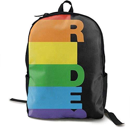 Laptop Rucksack Gay Pride Regenbogen Bisexuelle Computer Tasche College School Rucksack Frauen Männer (Laptop Ebags Rucksäcke)