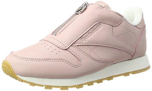 Reebok Classic Leather Zip, Zapatillas Para Mujer, Rosa (Shell Pink/Chalk/Silver...