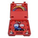 Aluminium Manifold Gauge Diagnostic Service Gauge Set für R134a R12 R22 R502 - rot & gelb & blau