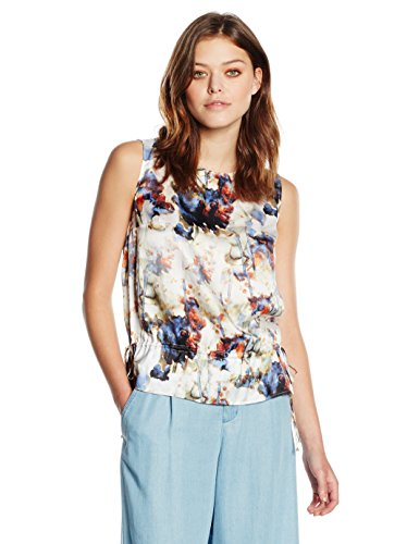 BOSS Orange Damen Top Kaflower, Mehrfarbig (Open Miscellaneous 980), 36