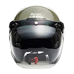 Royal Enfield Yellow Open Face with Visor Helmet Size (M)58 CM (RRGHEI000050)