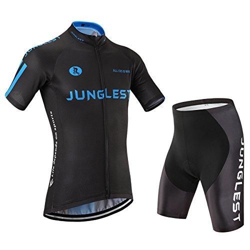 2015M [Type:Ensemble taille:M] avec Manches de Maillot Cyclisme séchage Homme et respirant Set rapide Vêtements coussin cuissard air cyclisme Sport plein courtes élasticité