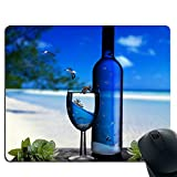 Produkt-Bild: Wine glasses and wine bottles Premium Quality Thick Rubber Mouse Mat Pad Soft Comfort Feel Finish