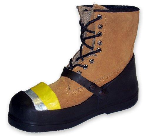 Sicherheit treds Gummi half-loafer Blitzschuhabdeckung mit Stahlkappe, Schwarz, XS, schwarz, 1 - Steel Toe Overshoe