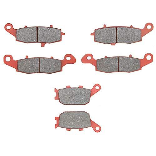 MEXITAL Pastiglie freno Ceramica organico Anteriori + Posteriore per SV 400(03-05) / SV 650(03-15) / GSF 650 Bandit (05-06) / GSR 750 L/AL (11-14) / DL 1000 V-Strom (K/L) (02-12)