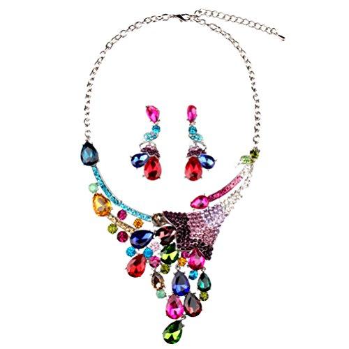 SunIfSnow donna Elegance Multicolor coda di pavone piume da party