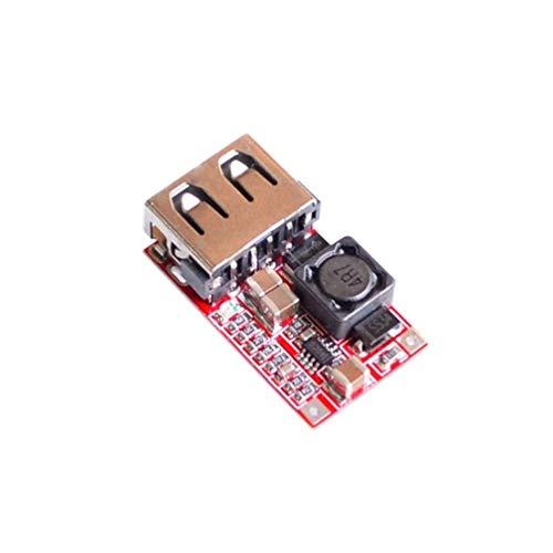 Oyamihin Efficienza 97,5% Modulo DC-DC Step-Down 6-24 V 12V 24 V a 5 V 3 A Caricatore per Telefono USB per Auto Design straordinariamente Resistente - Rosso