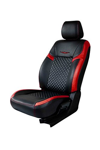Trend Star Black and Red Art Leather Car Seat Cover for Mahindra KUV 100 K8