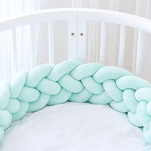 ZIYEYE Handmade Braided COT Bumper Baby Head Guard Bumper Knot Cuscino Treccia Cuscino Cuscino Decorativo per Il Bambino Nursery Culla Biancheria da Letto (Dimensioni : 4M)