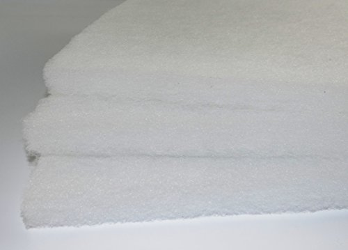 G3 EU3 Vorfilter 2m x 1m ca. 20 mm progressiv aufgebaut - 250g/m² Filtervlies Vliesmatte Staubschutz Filtermatte Luftfilter Vlies Filter Lüftungsanlage Staub Vorfilter