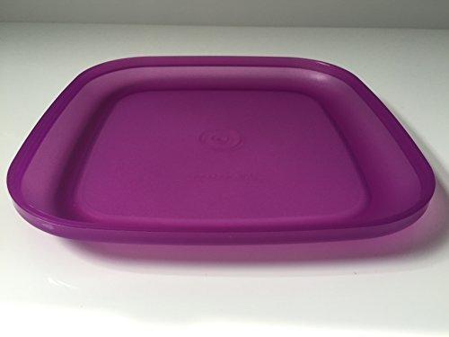 Tupperware Teller Picknick Plastikteller Picknickteller tief eckig verschiedene Farben (lila)