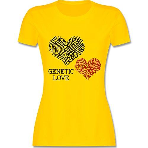 Romantisch - Genetic Love Fingerabdruck - tailliertes Premium T-Shirt mit Rundhalsausschnitt für Damen Gelb