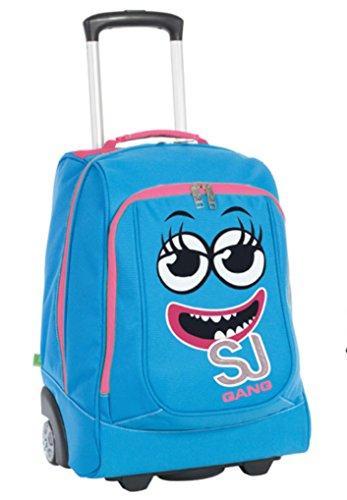 Zaino Big Trolley Azzurro Facce da SJ Seven