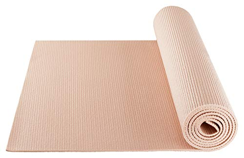 BODYMATE Yogamatte Universal Rose-Gold - Größe 183x61cm - Dicke 5mm - Schadstoffgeprüft durch SGS frei von Phthalaten, BPA, Schwermetallen - Trainings-Matte für Fitness, Yoga, Pilates, Functional