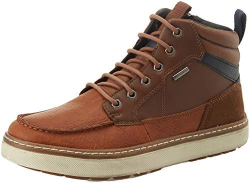 Geox Herren U Mattias B ABX B Chukka Boots, Braun (Browncotto/Navy C6gf4), 43 EU