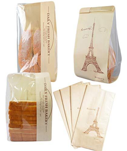 elufly Papier Brot Tasche Wiederverwendbar Keep Fresh und Clean Brot Aufbewahrungstasche 50PC (Brot-taschen Aus Kunststoff)