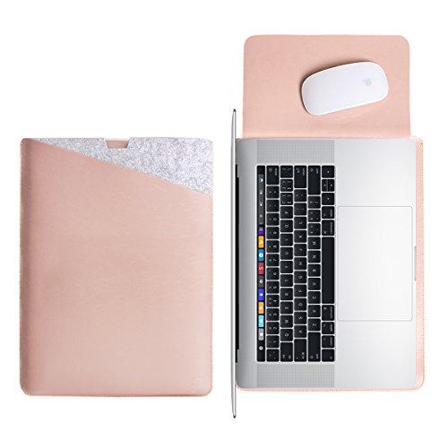WALNEW 15 MacBook Pro 15 Zoll Schutzhülle, Hülle, Case, Cover, mit Zwei-Taschen-Design mit Geschütztem Inneren und Externem Mousepad