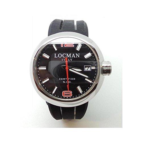 Orologio Locman One REF.422_-_C0008 Al quarzo (batteria) Acciaio Quandrante Nero Cinturino Silicone