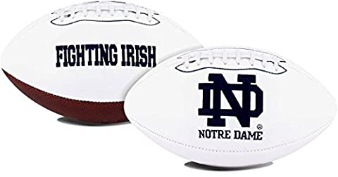 NCAA Signature Series Full Size Autograph Football Notre Dame Fighting Irish by Licensed Products