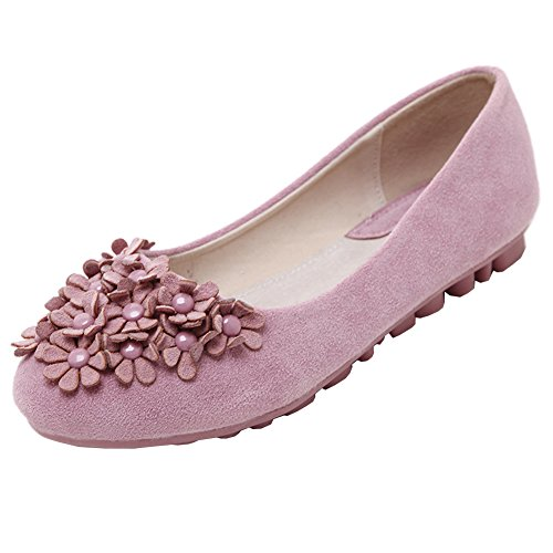 Slip-on Schuhe Damen Flache Schuhe Atmungsaktiv Schuhe Damen Mädchen Pink 40