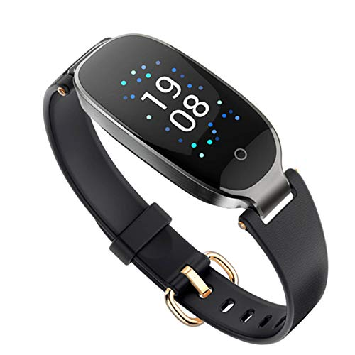 HLL Damenmode Farbdisplay Smart Armband, Herzfrequenz Gesundheit Wasserdicht Kalorienüberwachung Multifunktions-Sport-Armband-Tabelle,C -