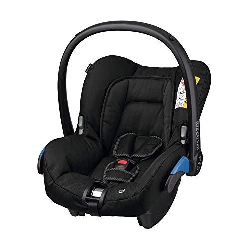 Maxi-Cosi Citi Babyschale, in Kombination mit allen Maxi-Cosi und Quinny-Kinderwagen und Buggys flexibel einsetzbar, Leichtgewicht und für das Flugzeug zugelassen, Gruppe 0+, bis 13 kgz, Black Raven