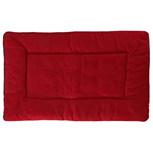 Niche Coussin - TOOGOO(R)Tapis Coussin Lit Couchage Tissu Velours Chien Chat Animaux Niche Dog Bed vin rouge XS