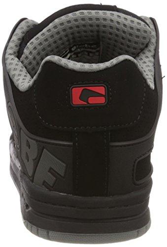 Globe Tilt, Scarpe da Skateboard Uomo Schwarz (Black/Black/Red)