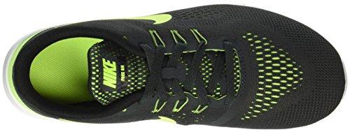 Nike Unisex-Kinder Free Rn (Gs) Running Shoe Low-Top Schwarz (002 ANTHRACITE/VOLT-BLACK-WHITE)
