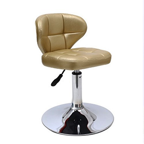 Meetingraum Stühle Barhocker Bürostuhl Hochstuhl Zurück Stuhl Lernen Stuhl Frühstück Stuhl Einstellbare Höhe 360 ° drehung (Color : Gold, Size : 25*40*42cm) (Gold Frühstück Kissen)