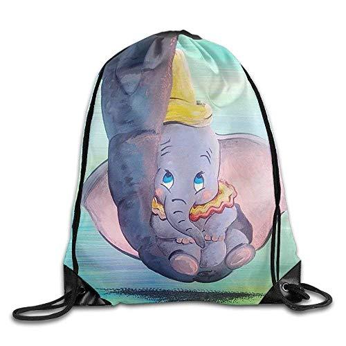 (Decams Dumbo Being Held by His Mother's Trunk Rucksack mit Kordelzug, Reisetasche für Fitnessstudio, Outdoor-Sport, tragbar, mit Kordelzug, für Mädchen, Jungen, Frauen, Frauen)