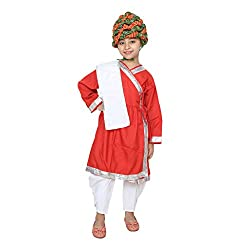 Shri Nikunj Raangoli Rajasthani boy Dress/costume for kids