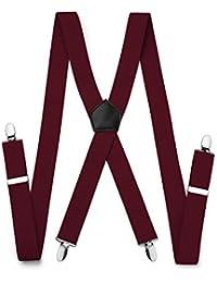 f055652ebe997 FYDRISE Bretelle Homme Vintage 4 Pinces X Entierement elastique - Large 3.5cm  Longueur 120cm -