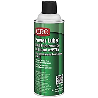 CRC Power Lube Industrial High Performance Lubricant with PTFE, 16 oz. (Net weight: 11 oz) Aerosol Can, Light Amber/White by CRC