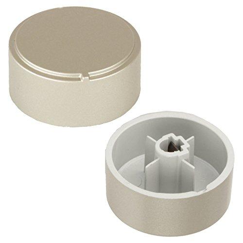 Spares2go Plata botones de Control para Ariston Horno/Cocina (Pack de 2)
