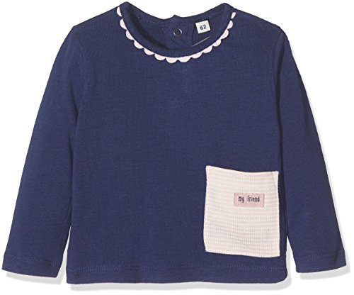 TOM TAILOR Kids Baby-Mädchen Langarmshirt T-Shirt with Snail in Pocket, Blau (Cosmos Blue 6814), 62 (Mädchen-tee Blaue)