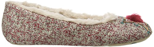 Ruby and Ed Embellished Pom Ballerina, Chaussons femme Multicolore - Multicolor (Multi)