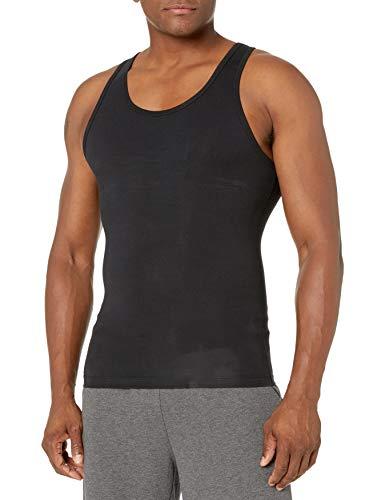 Spanx For Men Cotton Compression Tank T-Shirt - Black, Small [Apparel]