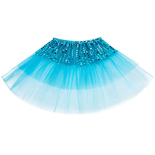 SUCES Mädchen Ballett Tutu Kinder Tanzabnutzung Prinzessin Dress up Cosplay Karneval Kostüm Party Rock Tüllrock Petticoat Kurze Minirock Festlich - Bustle Skirt Kostüm