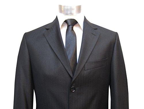 Herrenanzug mit Schatten streifen Slim-fit/Tailliert Muga Schwarz