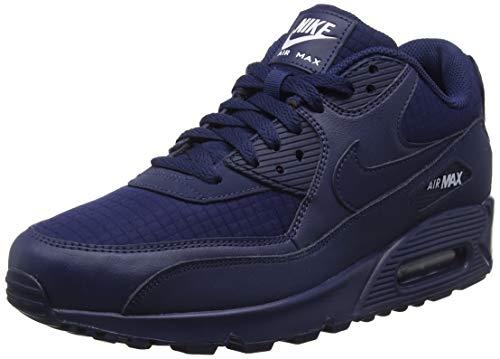Nike Herren Air Max 90 Essential Gymnastikschuhe Blau (Midnight Navy/White 404) 43 EU