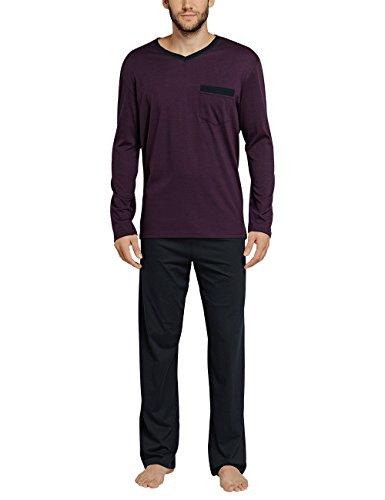 Preisvergleich Produktbild Schiesser Herren Zweiteiliger Schlafanzug Essentials Anzug Lang, Rot (Aubergine 511), X-Large (Herstellergröße: 054)