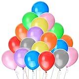 "Luftballons-NUOLUX 100 Luftballons Metallic Buntmix 10"" 26cm [Spielzeug]"