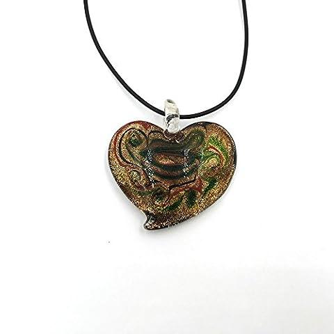 Skyllc® Glass Pendant Necklace 1.9