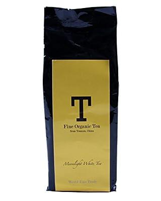 Danyun Fair Trade Co. Le thé blanc de lune de Yunnan organique, commerce équitable Le thé chinois fait avec les feuilles de thé organiques - sac de recharge de 60g de thé de Whie de feuille lâche