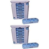 Preisvergleich für 2 Medikamentendosierer Pillendose Pillenbox Tablettendose Tablettenbox Wochendosierer 7 Tage