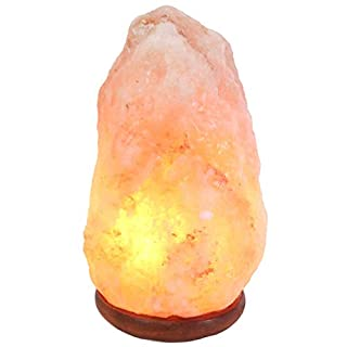 Himalayan Salt Lamp 100% Premium and Authentic Quality Natural Pink Crystal Rock with British Standard, CE Certified Electric Button Cable (5-7 KG with Button + 4 Bulb)